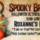 Cal Heights Halloween Brunch out on Roxanne's Patio