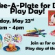 Make-A-Plate for Dad Play Day!