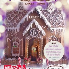 Gingerbread House Workshop at Davio's Atlanta