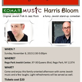 Sunday Funday Jewish Concert and Comedian