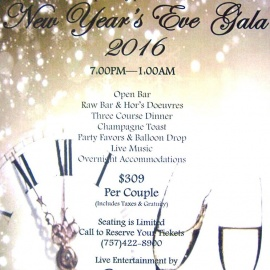New Year's Eve at Doubletree by Hilton Virgina Beach