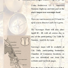 2nd Annual Scavenger Hunt-Rediscover US1 America's Business Highway