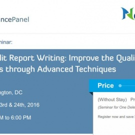 Effective Audit Report Writing: Improve the Quality of your Audit Reports through Advanced Technique