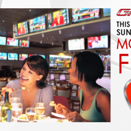 MOM EATS FREE at GameTime!