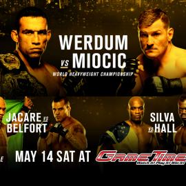 WATCH UFC 198 WERDUM vs MIOCIC AT GAMETIME!