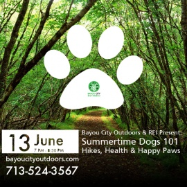 BCO & REI Present: Summertime Dogs 101 – Hikes, Health & Happy Paws