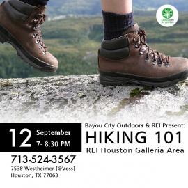 Bayou City Outdoors & REI Present: Hiking 101