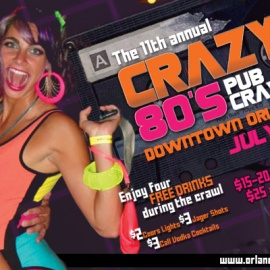 The 11th Annual Crazy 80s Pub Crawl