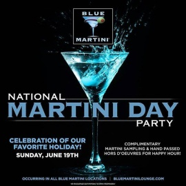National Martini Day 2016 : Blue Martini Lounge