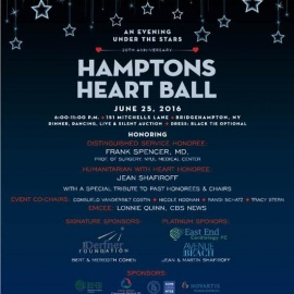 The American Heart Association's Annual Heart of the Hamptons Ball Returns for its 20th Year Platinu