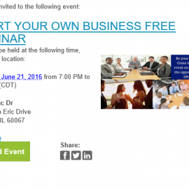 Be Your Own Boss Free Seminar