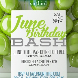 June Birthday Bash Event in NYC