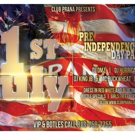 1st of July Pre Independence Day Party