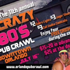 The 11h Annual Crazy 80's Pub Crawl