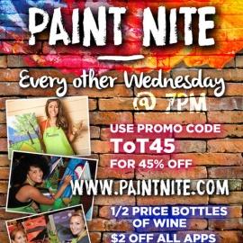 Paint Nite here at TAVERN on third