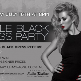 Little Black Dress Party! 16th, July 2016 BlueMartini Lounge