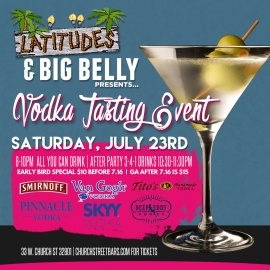 Latitudes & Big Belly: Vodka Tasting Event