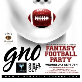 The All New Girls Night Out: Football Theme Party Wednesday Night!