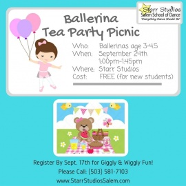 Ballerina Tea Party Picnic