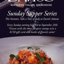 Tour of Italy: Sunday Supper Series at Davio's