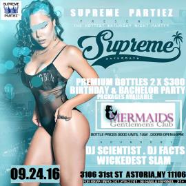SUPREME SATURDAYS at MERMAIDS SEPT 24th