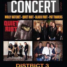 MOLLY HATCHET - BLACKFOOT - QUIET RIOT & PAT TRAVERS Live in Concert