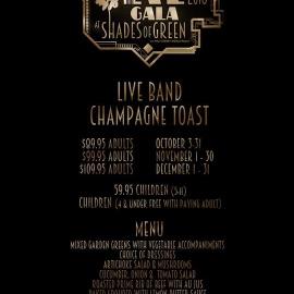 New Years Eve Gala | Shades Of Green Resort