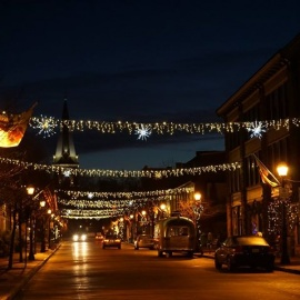 Holiday Light Canopy Over The Annapolis Arts District