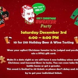 Ugly Christmas Sweater Party - 10 for $10 Beer & Wine Tasting