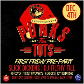 Filthy Fill's 11th Annual Punks For Tots Toy Drive