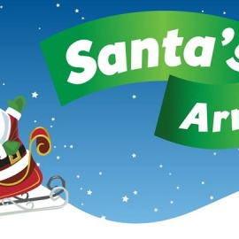 Santa's Big Arrival Snow Party
