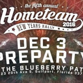 Hometeam New Years Rally Pre-Party at the Blueberry Patch