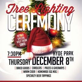 Tree Lighting Ceremony at Keystone Hyde Park