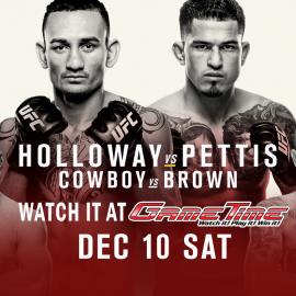 Watch UFC 206 Holloway vs Pettis at GameTime!