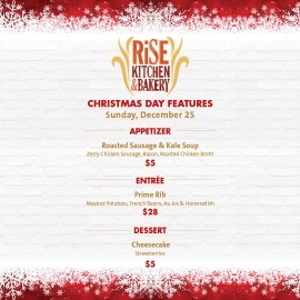Rise Kitchen & Bakery Christmas Day Features