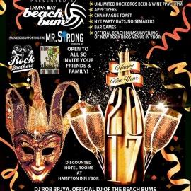 Rock N' Play NYE Masquerade Bash Presented by Tampa Bay Beach Bums