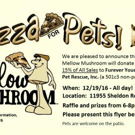 Pizza 4 Pets Fundraiser