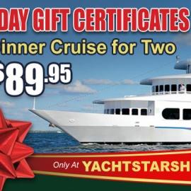 Yacht Starship: Holiday Dinner Cruise Deal