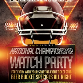 Emperors Gentlemens Club National Championship Watch Party