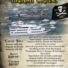 Gasparilla Invasion Brunch Cruise | Yacht Starship