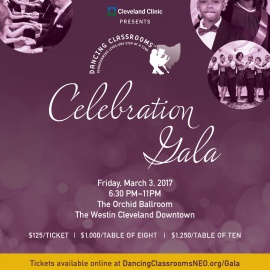 Celebration Gala for the benefit of Dancing Classsrooms Northeast Ohio