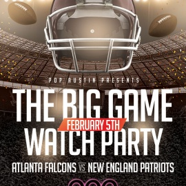 Falcons vs Patriots Watch Party