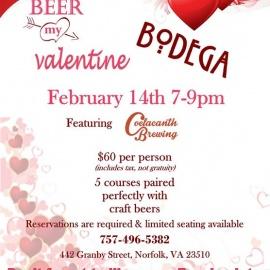 Valentines Day Beer Dinner