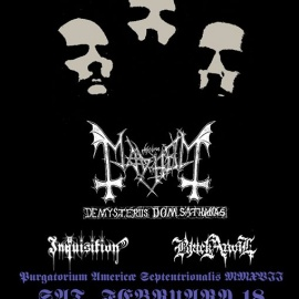 Mayhem performing De Mysteriis Dom Sathanas at Royale