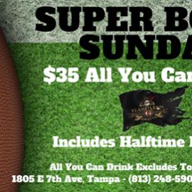 Super Bowl Sunday at Gaspar's Grotto
