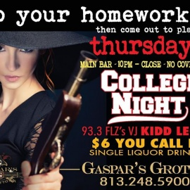 Thursday Night College Night w/ VJ Kidd Leow at Gaspar's Grotto