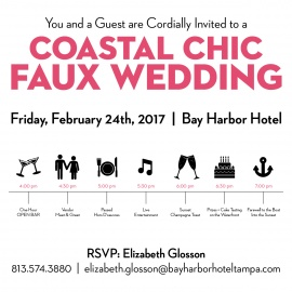 A Coastal Chic Faux Wedding at Bay Harbor Hotel