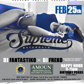 SUPREME SATURDAYS at AMOUN FEB 25th