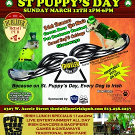 St. Puppy's Day Sunday March 12th