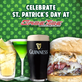 Celebrate St. Patrick's Day at GameTime!